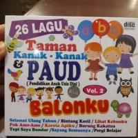 CD ANAK ANAK 26 LAGU TK DAN PAUD VOL.2