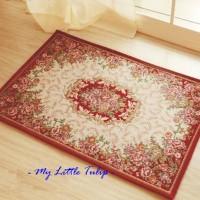 harga Keset Karpet Turki ( Turkey Square Carpet ) Dalam Ruangan Merah Red Tokopedia.com