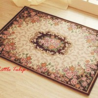 harga Keset Karpet Turki ( Turkey Square Carpet ) Sulur Coklat Full Bunga Tokopedia.com