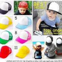topi anak bayi balita snapback trucker baseball kids polos original