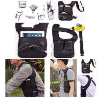 Shoulder Bag tas gadget pundak anti maling thief FBI Style (standart)