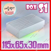 Box Abu-Abu S1 Kotak Plastik Slim Casing Komponen S-1