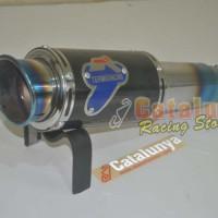 Knalpot racing TERMIGNONI GP blue fullset Xabre/R15/scorpio dll