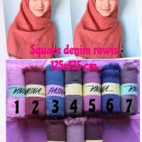 Kerudung Segi Empat Denim / Square Denim / Grosir Kerudung / Hijab