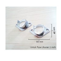 """Gantungan Minimalis/Dop Pipa/Bracket Pipa Bulat Model Kuku 1"""" DP032 F"""