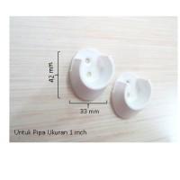 """Gantungan Minimalis/Dop Pipa/Bracket Pipa Bulat Model Kuku 1"""" DP027 F"""