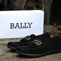 Bally Mocassin Slop Black Sepatu Casual Pria Termurah CR4