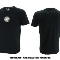 Jual Tshirt / Kaos Superhero Topgear Tony Stark Iron Man Arc Reactor Mark42 Murah