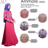 pusat grosir baju new ammore dress bruklat velvet non furing