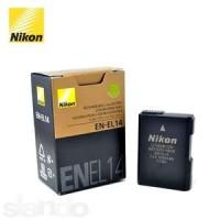 batre / baterai Nikon EN-EL14 untuk Nikon D3100, D3200, D5100