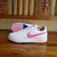 Sepatu Nike Air Force One Putih Pink Vietnam Grade Ori Cewek 36-40