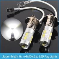 LAMPU LED H3 10 MATA BESAR - FOGLAMP / LAMPU KABUT MOBIL