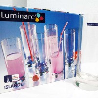 Gelas Minum / Drinking Glass Kaca Bening Luminarc Islande 330 ML 6 pcs