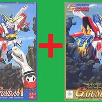 HG 1/144 God Gundam Normal Ver + Hyper Mode Ver ~ 500+700yen ~ 222rb