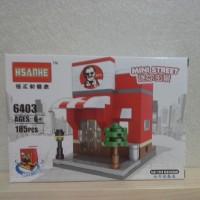 Hsanhe Lego mini street fast food restaurant kf*