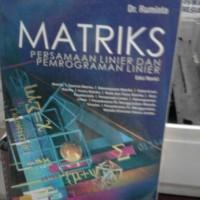 Matriks Persamaan linier dan pemograman linier