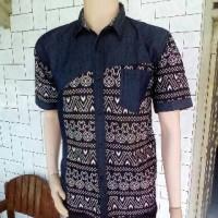 Jual batik kombinasi jeans Murah