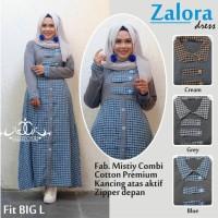 ZALORA DRESS BLUE ONMODEL