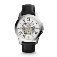 JAM TANGAN FOSSIL ME-3101 GRANT AUTOMATIC BLACK LEATHER