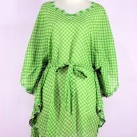 harga Model Baju Atasan Kalong Sifon Warna Hijau Motif Ketupat Tokopedia.com