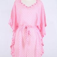 harga Model Baju Atasan Kalong Sifon Warna Pink Motif Ketupat Tokopedia.com