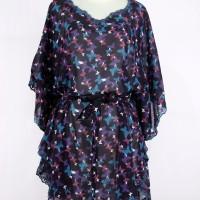 harga Model Baju Atasan Kalong Sifon Warna Purple Motif Kupu Kupu Tokopedia.com