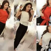 017321 baju setelan tank top celana panjang premium butik wanita korea