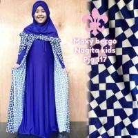 gamis anak nagita +jilbab all jersey p 117 cm