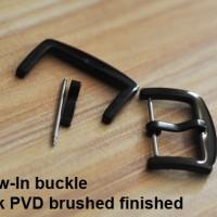 Buckle gesper jam Panerai black hitam stainless steel 24mm 26m