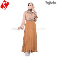 Baju Muslim Wanita Gamis Vintage Hycone Coklat SNSS715| Limited
