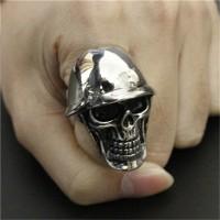 harga Cincin Tengkoak Skullring Handmade Titanium Ring Army Silver Helm Ootd Tokopedia.com