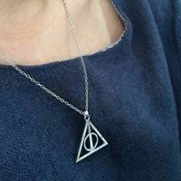 [34] Deathly Hallows Luna Lovegood Necklace Harry Potter