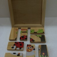 Jual Mainan Edukatif / Edukasi Anak - Puzzle Balok Kayu LED Kepik / Ladybug Murah