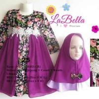 Dress Baju Muslim Gamia Anak Lucu Ungu Labella 6-7-8-9-10-11 tahun