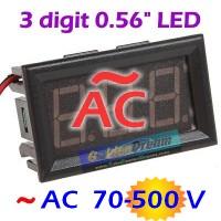 Voltmeter Digital AC 75-380V Pengukur Tegangan PLN Volt Meter + Frame