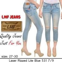 harga Soft Jeans Stretch 7/9 Lmf Laser Ripped Lite Blue 531 Tokopedia.com