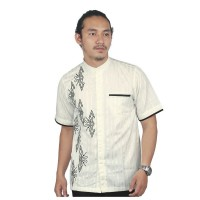 Baju Muslim Koko Raindoz RYR 001 Cotton Putih/ Baju Koko Lengan Pendek