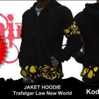 Jaket Sweater Hoodie Anime One Piece Trafalgar Law - New World