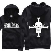 Jaket Sweater Hoodie Anime One Piece Bajak Laut Shirohige Logo