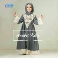 Busana Baju Gamis Muslim Anak Perempuan Dress Cantik - Anabell Kids