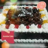Black Forest Cake 2 - 26x26 cm (Tart Birthday Kue Ulang Tahun Jasmine)