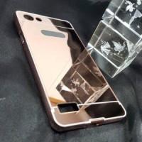 Case Mirror Oppo Neo 7 A33 Alumunium Metal Bumper Backslide Mirror