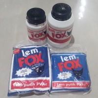 LEM FOX BOTOL 1 KG / lem white latex glue wegabond wega bond toa slime