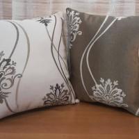 Jual Sarung Bantal Sofa/Kursi Klasik Salur Krem Coklat Cushion Cover Pillow Murah