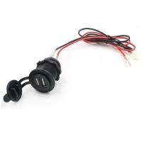 harga USB Dual Port Charging 12-24V for Sepeda Motor (Charger langsung Accu) Tokopedia.com