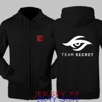 Hoodie Dota 2 Team Secret Game Jaket Zipper Sweater Dota2 Keren