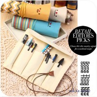 Paket Alat Tulis Tas Pencil Pencil Bag Cosmetic Brush Bag Senyum