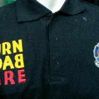 Kaos Kerah / Polo Shirt Pemadam Turn Back Fire,Katun,Full bordir