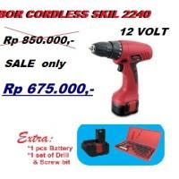 Mesin Bor Obeng Baterai / Cordless Drill Skil 2240