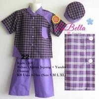 Baju Muslim Koko Anak Bayi Ungu Labella 3-6-12-18-24 bulan